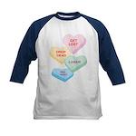 Valentine's Day Candy Kids Baseball Jersey