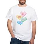 Valentine's Day Candy White T-Shirt