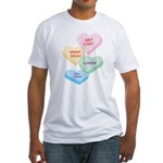 Valentine's Day Candy Fitted T-Shirt