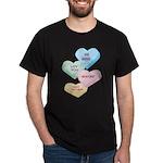 Valentine's Day Candy Black T-Shirt
