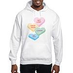 Valentine's Day Candy Hooded Sweatshirt