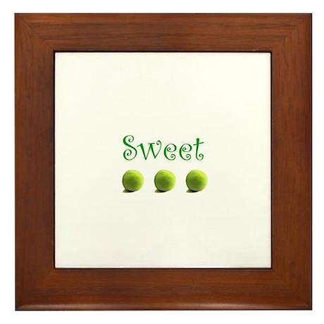 Sweet Peas Framed Tile