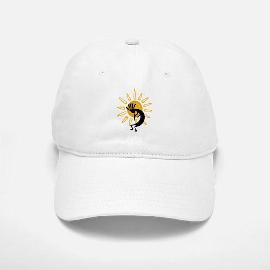 Hopi Kokopelli Gold Baseball Baseball Cap