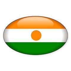 Niger Oval Sticker (50 pk)