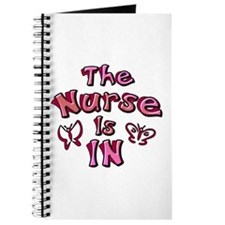 The Nurse Is IN (rose / pink) Journal