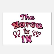 The Nurse Is IN (rose / pink) Postcards (Package o