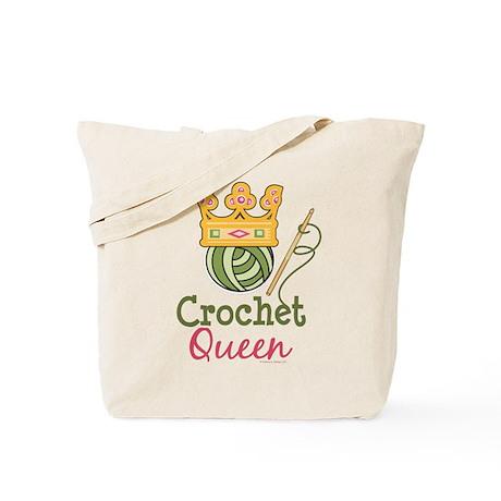 Crochet Queen Tote Bag
