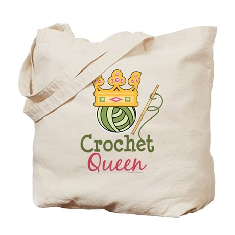 Crochet Queen : Crochet Queen Tote Bag by thecraftycloset