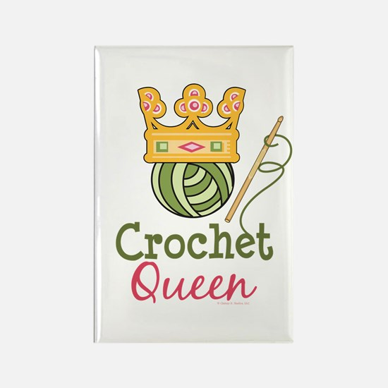 Crochet Queen Rectangle Magnet