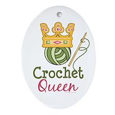 Crochet Queen Oval Ornament