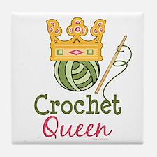 Crochet Queen Tile Coaster