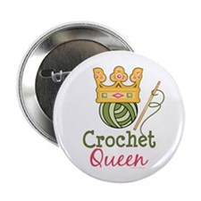 "Crochet Queen 2.25"" Button (10 pack)"