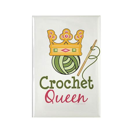 Crochet Queen Rectangle Magnet (10 pack)