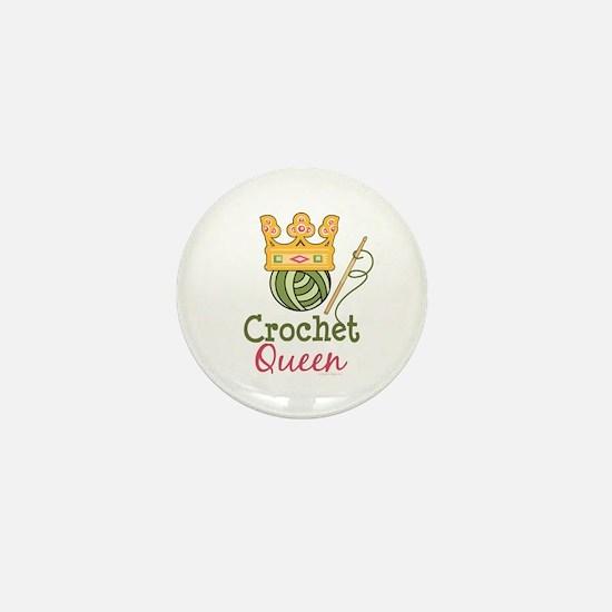 Crochet Queen Mini Button