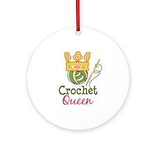 Crochet Queen Ornament (Round)