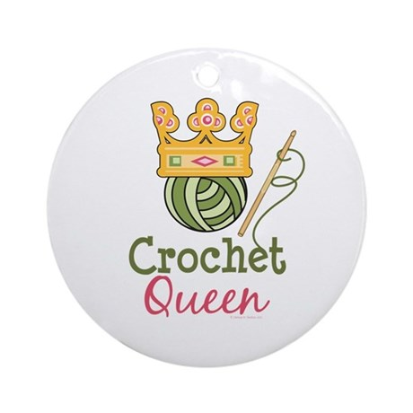 Crochet Queen Ornament (Round)