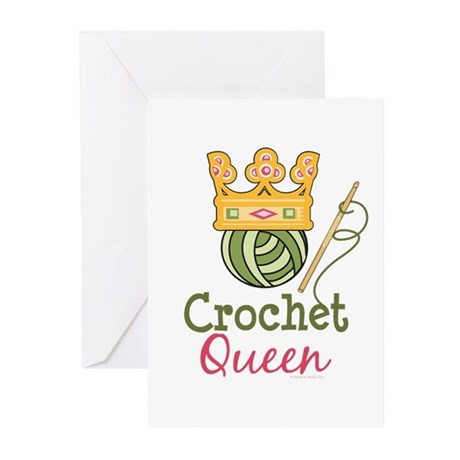 Crochet Queen Greeting Cards (Pk of 20)