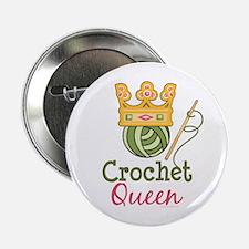 """Crochet Queen 2.25"""" Button"""