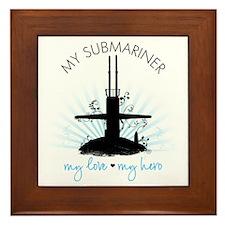 My Submariner My Love Framed Tile