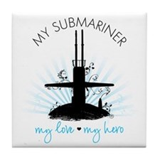 My Submariner My Love Tile Coaster