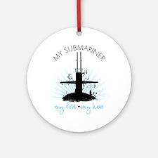 My Submariner My Love Ornament (Round)