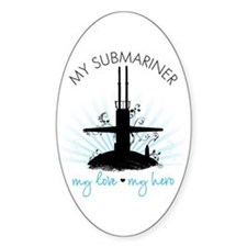 My Submariner My Love Oval Decal