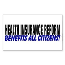 Reform Benefits All Rectangle Decal