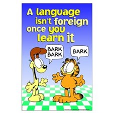 Foreign Language Garfield Large Poster