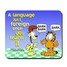 Foreign Language Garfield Mousepad