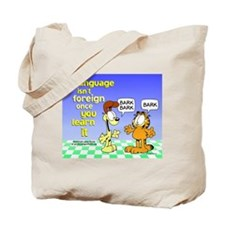 Foreign Language Garfield Tote Bag