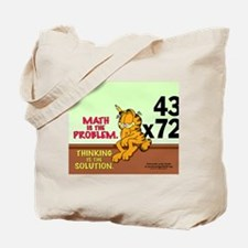Math Problem Garfield Tote Bag