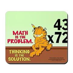 Math Problem Garfield Mousepad