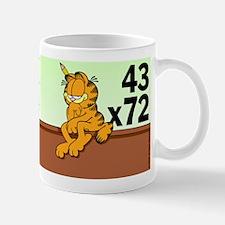 Math Problem Garfield Mug