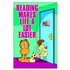 Reading Makes Life Easier Large Poster