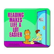 Reading Makes Life Easier Mousepad