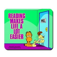 Reading Makes Life Easier Mousepad