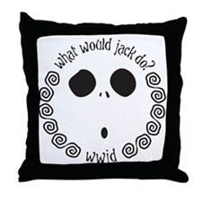 Funny What would jesus do Throw Pillow