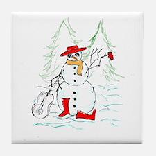 Cool Snowman Tile Coaster