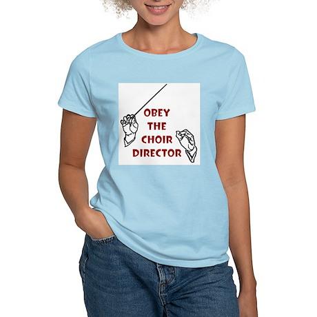 Obey the Choir Director Women's Pink T-Shirt