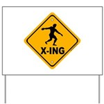 Discus X-ing Yard Sign