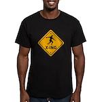 Discus X-ing Men's Fitted T-Shirt (dark)