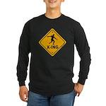 Discus X-ing Long Sleeve Dark T-Shirt