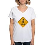 Discus X-ing Women's V-Neck T-Shirt