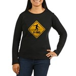 Discus X-ing Women's Long Sleeve Dark T-Shirt