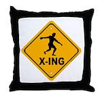Discus X-ing Throw Pillow