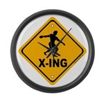 Discus X-ing Large Wall Clock