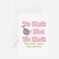 To Knit Or Not To Knit Greeting Card