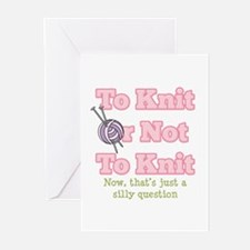 To Knit Or Not To Knit Greeting Cards (Pk of 10)