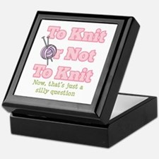 To Knit Or Not To Knit Keepsake Box
