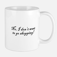 No Shopping Mug